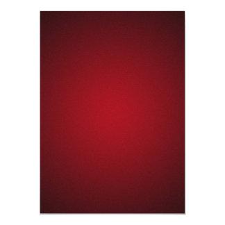 Grainy Red-Black Vignette 5x7 Paper Invitation Card