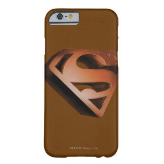 Grainy Superman Logo Barely There iPhone 6 Case