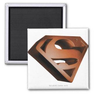 Grainy Superman Logo Refrigerator Magnet
