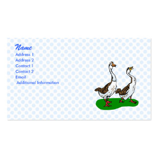 Gram and Graham Goose Business Card Template