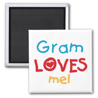 Gram Loves Me T-shirts and Gifts Refrigerator Magnets