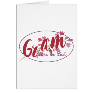 Gram You're The Best Floral1 Card
