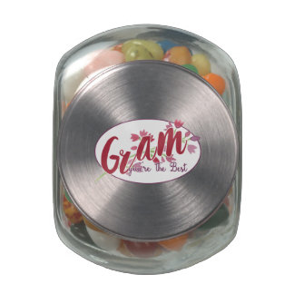 Gram You're The Best Floral1 Jelly Belly Candy Jar