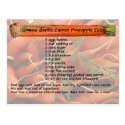 GramaBarb's Carrot Pineapple Cake Postcard