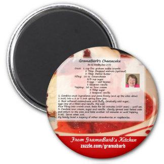 GramaBarb's Cheesecake Recipe Magnet