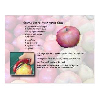 GramaBarb's Fresh Apple Cake Postcard