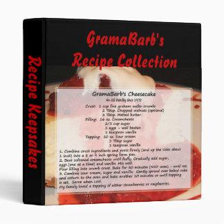 GramaBarb's Recipe Postcard Binder