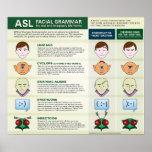 Gramática facial del ASL para las diversas formas  Impresiones