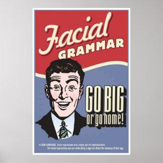 Gramática facial. Un cartel de la sala de clase de Poster