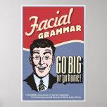 Gramática facial. Un cartel de la sala de clase de Póster