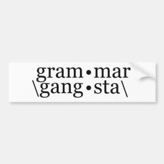 Gramática Gangsta Pegatina De Parachoque