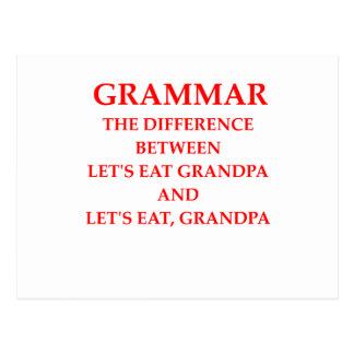 gramática postal