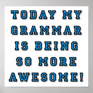 Gramática que es un poster divertido más póster