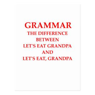 gramática tarjetas postales