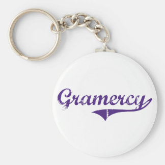 Gramercy Louisiana Classic Design Basic Round Button Keychain