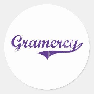 Gramercy Louisiana Classic Design Classic Round Sticker