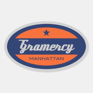 Gramercy Oval Sticker