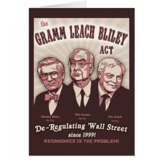 Gramm Leach Bliley Act Card