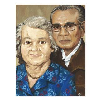 Gramma & Grandpa Apilado Postcard