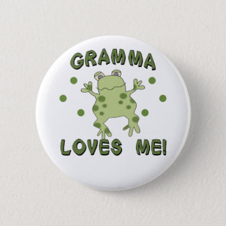 Gramma Loves Me Frog Button