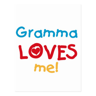 Gramma Loves Me T-shirts and Gifts Postcard