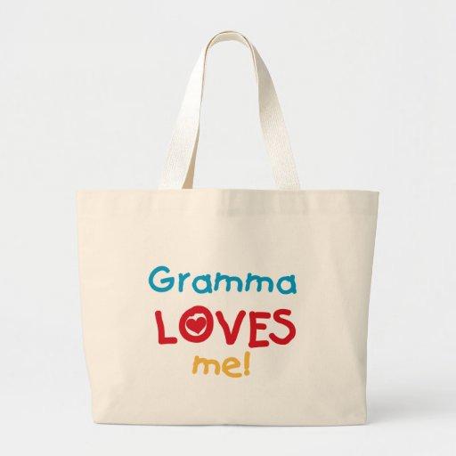 Gramma me ama las camisetas y los regalos bolsas lienzo
