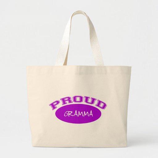 Gramma orgulloso (púrpura) bolsa tela grande