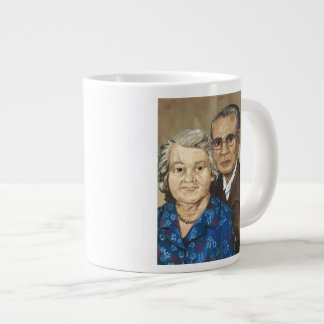 Gramma y abuelo Apilado Tazas Extra Grande