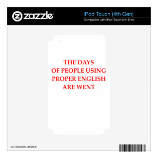 GRAMMAR DECAL FOR iPod TOUCH 4G