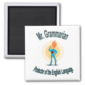 Grammar Fanatic Superhero Fridge Magnets