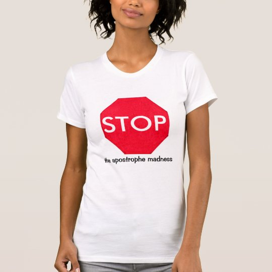 Grammar Guru Stop Sign T-Shirt