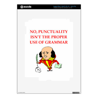 GRAMMAR iPad 3 DECAL