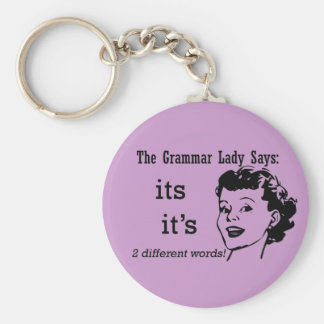 Grammar It's and Its Keychain
