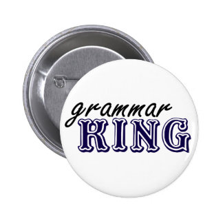 Grammar King Pinback Button