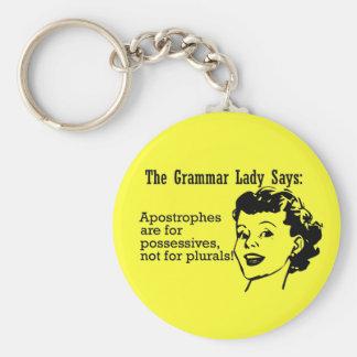 Grammar Lady Apostrophes Keychain