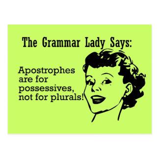 Grammar Lady Apostrophes Postcards