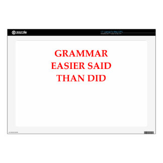 GRAMMAR LAPTOP SKIN