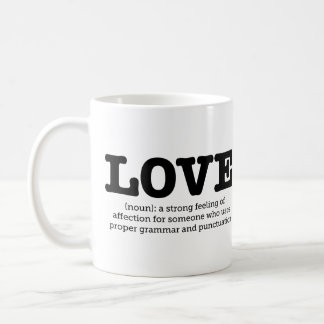 Grammar Mug Love Definition English Grammar Nerd
