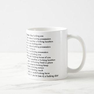 Grammar Nazi mug