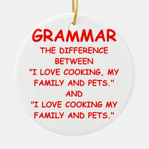 grammar Double-Sided ceramic round christmas ornament