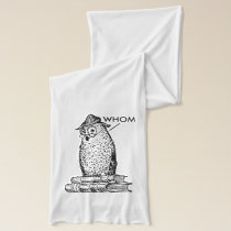 Grammar Owl Says Whom Scarf