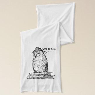 Grammar Owl Says Whom Scarf
