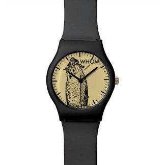 Grammar Owl Says Whom Wristwatch