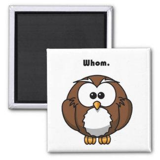 Grammar Owl Whom Cartoon Magnet