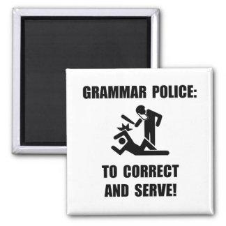 Grammar Police 2 Inch Square Magnet