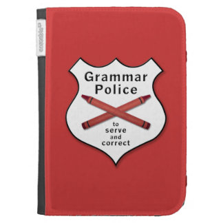 Grammar Police Badge Kindle Covers