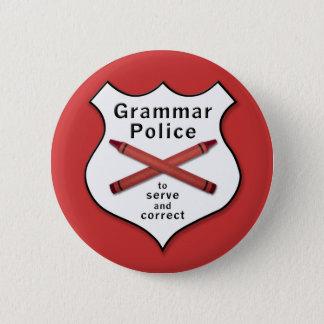 Grammar Police Badge Pinback Button
