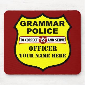 Grammar Police Customizable Mousepad