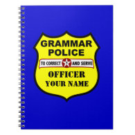 Grammar Police Customizable Notebook