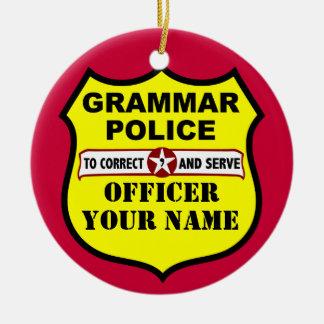 Grammar Police Customizable Ornament